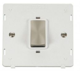Scolmore Click Definity SIN500PWBS INGOT 45A 1 Gang Plate DP Switch Insert White