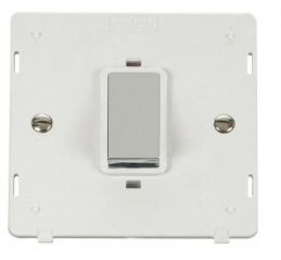 Scolmore Click Definity SIN500PWCH INGOT 45A 1 Gang Plate DP Switch Insert White