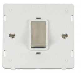 Scolmore Click Definity SIN500PWSS INGOT 45A 1 Gang Plate DP Switch Insert White