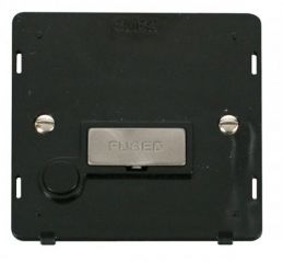 Scolmore Click Definity SIN550BKBS INGOT 13A Fused Conn. Unit With Flex Outlet Insert Black/Brushed Stainless