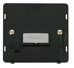 Scolmore Click Definity SIN550BKCH INGOT 13A Fused Conn. Unit With Flex Outlet Insert Black/Chrome