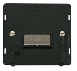 Scolmore Click Definity SIN550BKSS INGOT 13A Fused Conn. Unit With Flex Outlet Insert Black/Stainless Steel