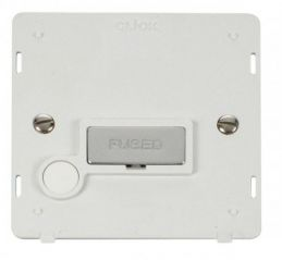 Scolmore Click Definity SIN550PWCH INGOT 13A Fused Conn. Unit With Flex Outlet Insert White/Chrome