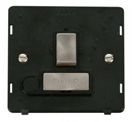 Scolmore Click Definity SIN551BKBS INGOT 13A Fused Sw. Conn. Unit With Flex Outlet Insert Black/Brushed Stainless