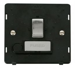 Scolmore Click Definity SIN551BKCH INGOT 13A Fused Sw. Conn. Unit With Flex Outlet Insert Black/Chrome
