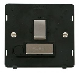 Scolmore Click Definity SIN551BKSS INGOT 13A Fused Sw. Conn. Unit With Flex Outlet Insert Black/Stainless Steel