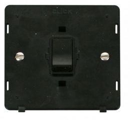 Scolmore Click Definity SIN622BK 20A 1 Gang DP Switch Insert Black