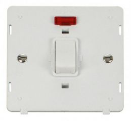 Scolmore Click Definity SIN623PW 20A 1 Gang DP Switch With Neon Insert White