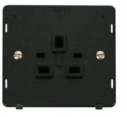 Scolmore Click Definity SIN630BK 1 Gang 13A Socket Insert Black
