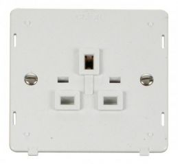 Scolmore Click Definity SIN630PW 1 Gang 13A Socket Insert White