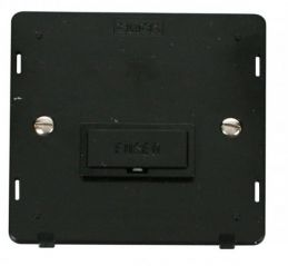 Scolmore Click Definity SIN650BK 13A Fused Connection Unit Insert Black