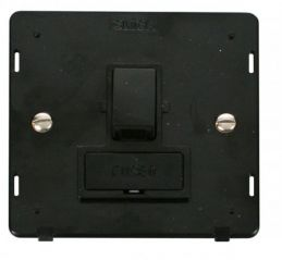 Scolmore Click Definity SIN651BK 13A Fused Switched Connection Unit Insert Black