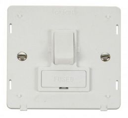 Scolmore Click Definity SIN651PW 13A Fused Switched Connection Unit Insert White