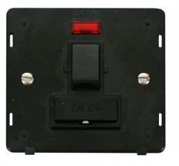 Scolmore Click Definity SIN652BK 13A Fused Switched Connection Unit With Neon Insert Black