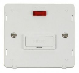Scolmore Click Definity SIN653PW 13A Fused Connection Unit With Neon Insert White