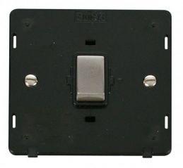 Scolmore Click Definity SIN722BKSS INGOT 20A 1 Gang DP Switch Insert Black/Stainless Steel
