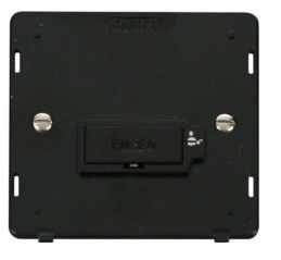 Scolmore Click Definity SIN850BK 13A Fused Connection Unit (Lockable) Insert Black