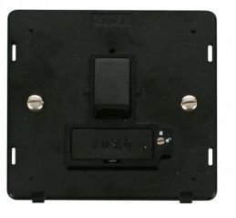 Scolmore Click Definity SIN851BK 13A Fused Switched Connection Unit (Lockable) Insert Black