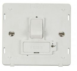 Scolmore Click Definity SIN851PW 13A Fused Switched Connection Unit (Lockable) Insert White
