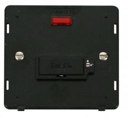 Scolmore Click Definity SIN853BK 13A Fused Connection Unit With Neon (Lockable) Insert Black