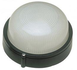 Ovia OVOL405WH IP54 Oval Die Cast Aluminium Bulkhead Black
