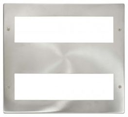 Scolmore Click New Media MP516BS Large Media Front Plate 2 X 8 Module