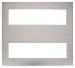 Scolmore Click New Media MP516SS Large Media Front Plate 2 X 8 Module