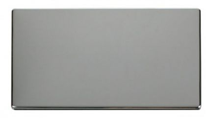 Scolmore Click Definity SCP061CH 2 Gang Blank Plate Cover Plate Chrome