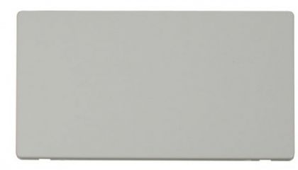 Scolmore Click Definity SCP061PW 2 Gang Blank Plate Cover Plate White