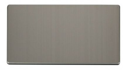 Scolmore Click Definity SCP061SS 2 Gang Blank Plate Cover Plate Stainless Steel