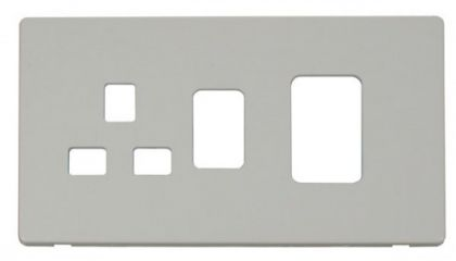 Scolmore Click Definity SCP204PW 45A Switch + 13A Switched Socket Cover Plate White