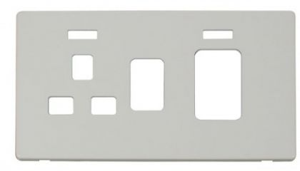 Scolmore Click Definity SCP205PW 45A Switch + 13A Switched Socket With Neons Cover Plate White