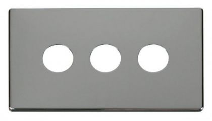 Scolmore Click Definity SCP223CH 3 Gang Toggle Switch Cover Plate Chrome