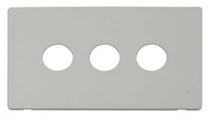 Scolmore Click Definity SCP223PW 3 Gang Toggle Switch Cover Plate White