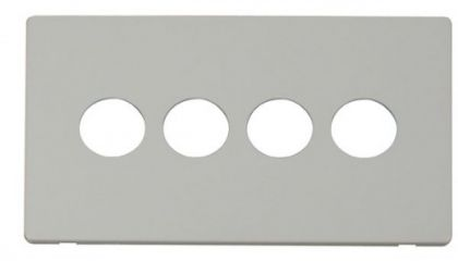 Scolmore Click Definity SCP224PW 4 Gang Toggle Switch Cover Plate White