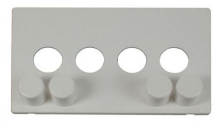 Scolmore Click Definity SCP244PW 4 Gang Dimmer Switch Cover Plate White