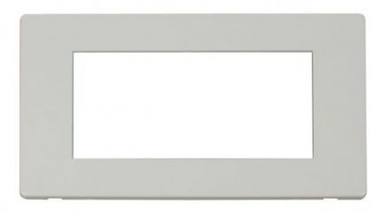 Scolmore Click Definity SCP312PW 2 Gang Plate Quad Media Module Cover Plate White