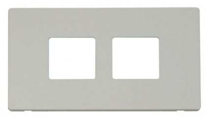 Scolmore Click Definity SCP404PW 2 Gang (2 x 2) Aperture Cover Plate White