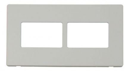 Scolmore Click Definity SCP406PW 2 Gang (2 x 3) Aperture Cover Plate White
