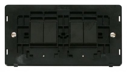 Scolmore Click Definity SIN019BK 10AX 4 Gang (2 x 2) 2 Way Switch Insert Black