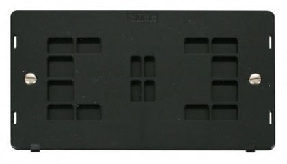 Scolmore Click Definity SIN061BK 2 Gang Blank Plate Insert Black