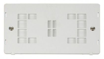 Scolmore Click Definity SIN061PW 2 Gang Blank Plate Insert White
