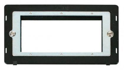 Scolmore Click Definity SIN312BK 2 Gang Plate Quad Media Module Insert Black