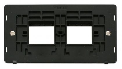 Scolmore Click Definity SIN404BK 2 Gang Plate (2 x 2) Aperture Insert Black