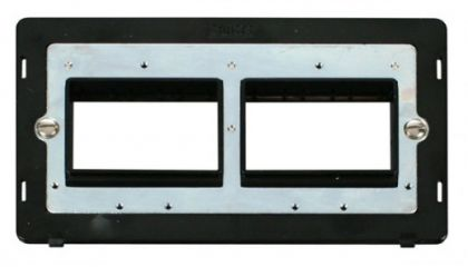 Scolmore Click Definity SIN406BK 2 Gang Plate (2 x 3) Aperture Insert Black