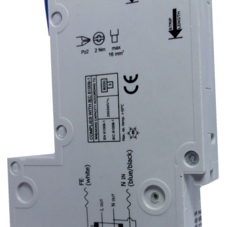 Wylex NHXSBS1C06 6A 30mA RCBO SP Type C