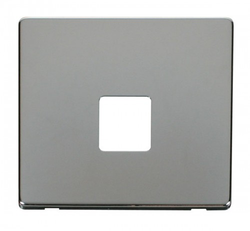 Click Definity Polished Chrome Data Sockets Cover Plates