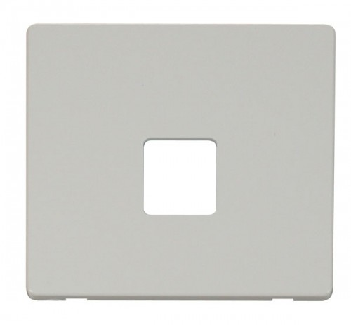 Click Definity Polar White Data Socket Cover Plates