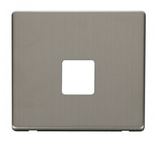 Scolmore Click Definity Stainless Steel Data Socket Cover Plates