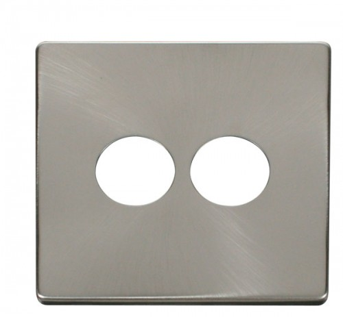 Click Definity Brushed Stainless Toggle Switches Cover Plates